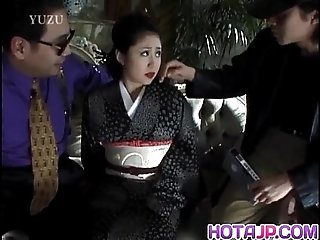 Miho Aikawa gets vibrator in hairy vagina
