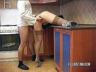 Bitching Teen Slut Hardcore Kitchen Ass Fucking