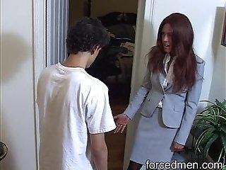 Solo cock masturbation for peeping Tom's punishment