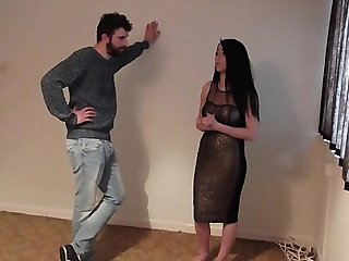 girlfriend is made into human furniture by her boyfriend as punishment