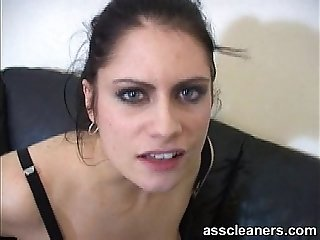 Stick your tongue inside the mistress' ass hole
