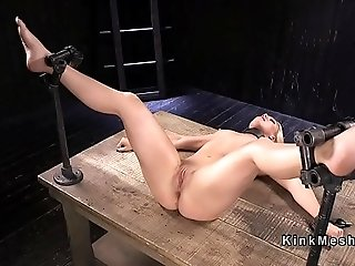 Blonde got anal fisted in bondage